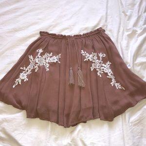 Everly Rose Brown Skirt
